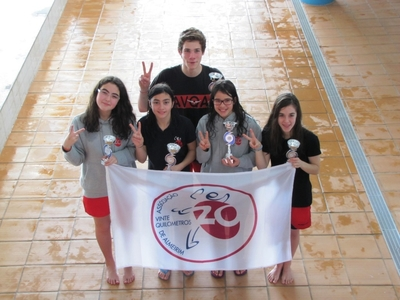 Secção Natação 20 km conquista cinco troféus