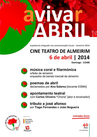 Avivar Abril no Cine Teatro de Almeirim