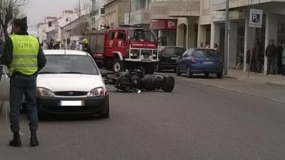 Acidente na rua de Coruche