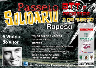 BTT solidário por Vitor Coelho foi sucesso na Raposa