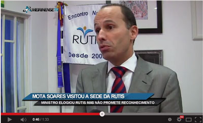 Ministro elogia RUTIS mas não promete reconhecimento (VÍDEO)
