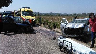 Quatro feridos em acidente entre Tapada e Alpiarça
