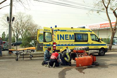 Acidente com tractor em Almeirim provoca ferido grave