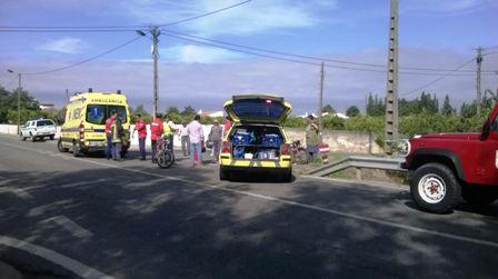 Acidente entre duas motas provoca um ferido grave