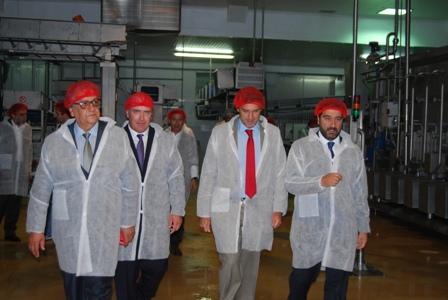 Secretario de Estado inaugura linha de produção em Alpiarça