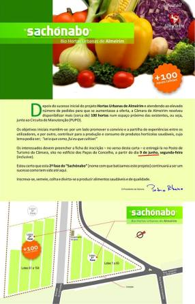 Abertas inscrições para as novas hortas biológicas