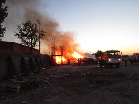 Incêndio em Almeirim provoca susto