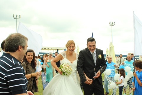 Nuno e Paula já casaram no Estádio (VÍDEO)