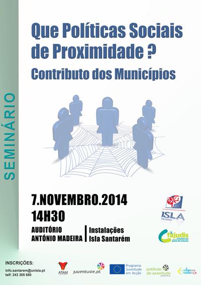 """ISLA apresenta seminário """"Que Políticas Sociais de Proximidade? Contributo dos Municípios"""""""