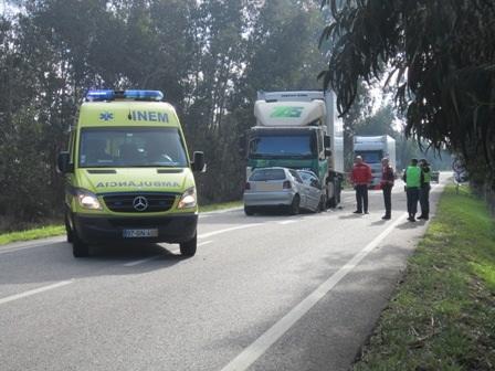 Um morto em acidente no Convento da Serra