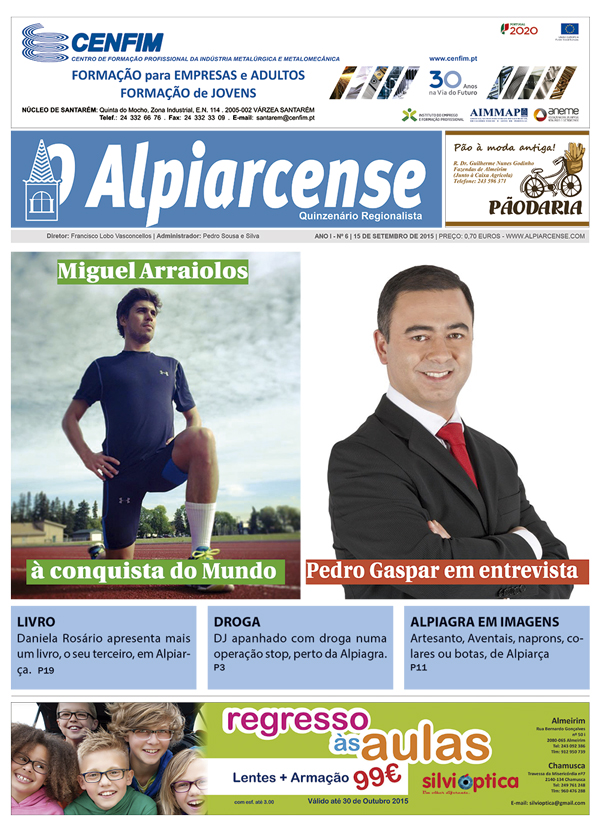 Destaques O Alpiarcense 15 setembro