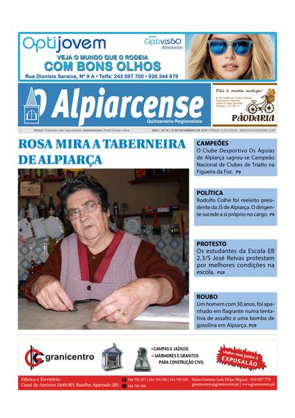 Edição 15 de novembro de O Alpiarcense
